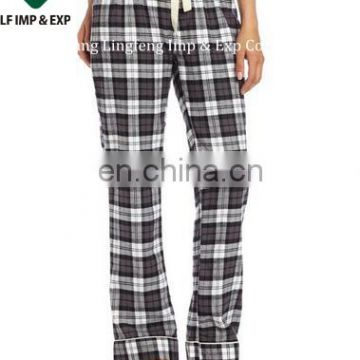 Women's Plaid Pajama Set/Promotional women's plaid pajama sets