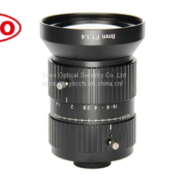 10 Megapixel lenses Machinevision lens 8mm 1""