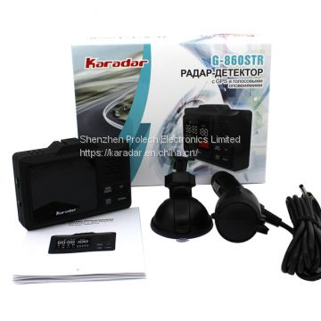 CE Certification and 1 Years Warranty 860STR Police Radar Camera Detector