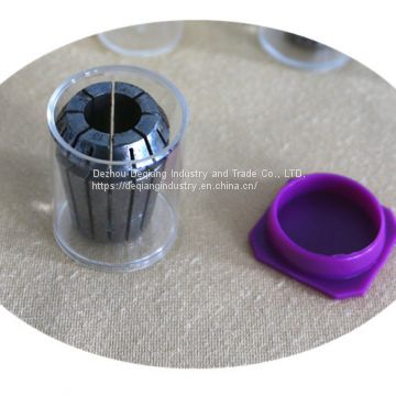 Collet ER32 transparent package small plastic tool box little parts and tool protective storage box 32mm(D) * 38mm(H)