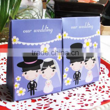 purple lovely romantic European style wedding gift paper candy box
