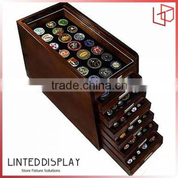 Fancy Shape Multitier Solid Wooden Coin Display Stand of New