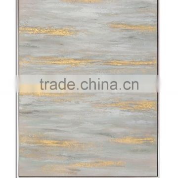 Abstract Water Oil Painting with Floating Frame