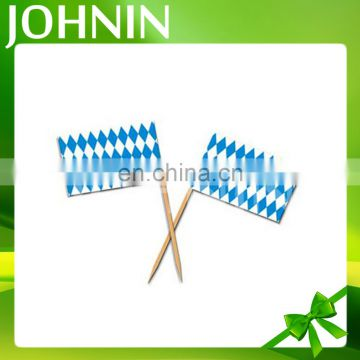 Good sale custom logo design party decorations paper toothpick flags with sticks