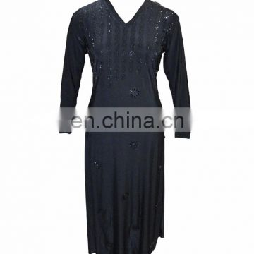 Islamic Clothing Fashinable Abaya / Latest 2017 Black Diamond Stone Work Burkha / Casual Evening Wear Stylish Burqa(dubai abaya)