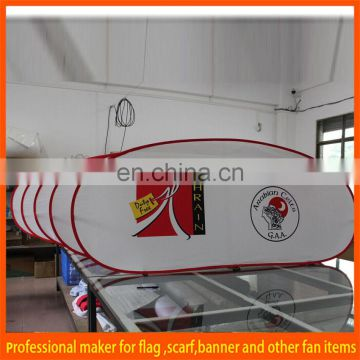Red custom horizontal pop out banner
