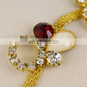 Attractive colour rhinestone cup chain for wedding decoration