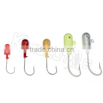 CHLP69 china factory bass fishing bait lead head jig hook with hole