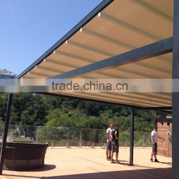 Aluminum Pergola awning M-OCEAN with automatic PVC roof of