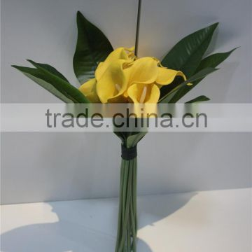 artificial flowers wholesale wholes PU bundled calla lily