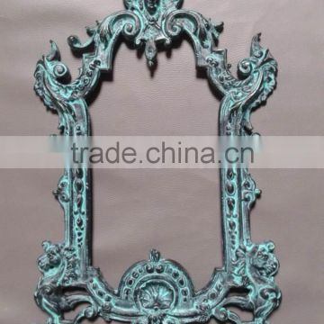 antique wall metal aluminium fancy mirror