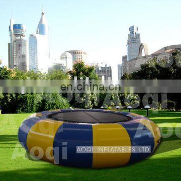 2015 popular kids jumping inflatable water trampoline for sale
