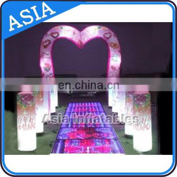 CE Certified With Top Quality Lighting Arch For Wedding Inflatable Arch With LED Light
