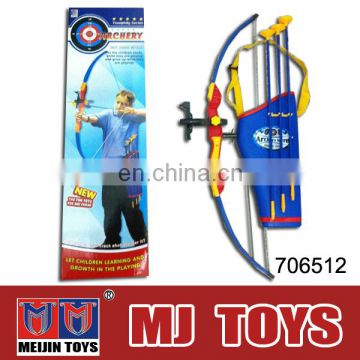 Best selling arrow bow gug toy plastic toy bow and arrow set series cheap china toys