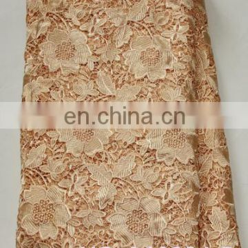 2016 Nigeria African Fabric Cupion Lace/White Lace Guipure Lace Fabric