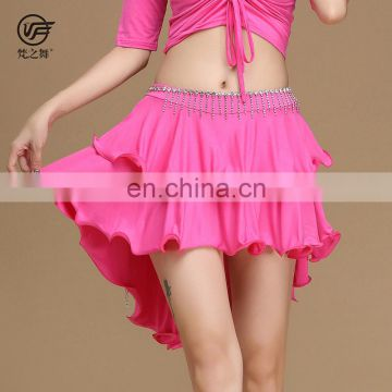 Q-6065 Fashion pattern printed short sexy adult belly dance skirt