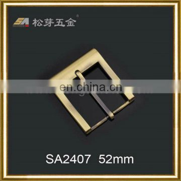 OEM customized zinc alloy gold plated strap buckle