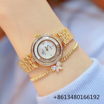 Women Quartz Watches Fashion Luxury Lady Rhinestone Wristwatch Ladies Crystal Dress Bracelet Gold Watch Clock   relojes mujer
