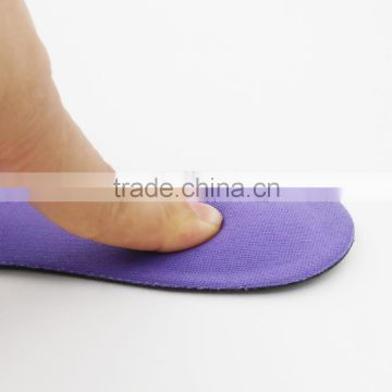 PU foam 3/4 length comfort insole dongguan soft sponge shoe pad relieve foot pain insole