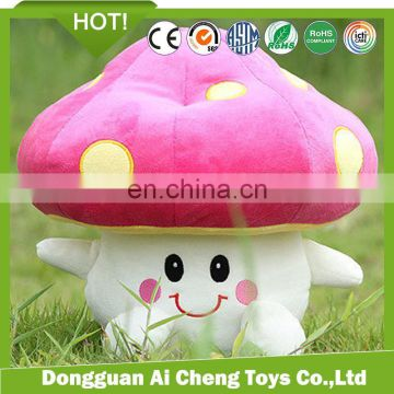 high quality cheap custom mushroom shaped plush toy pillow/keychain