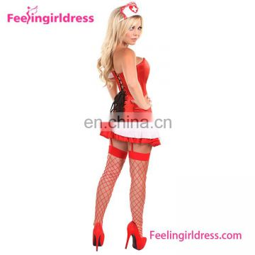 Fashion Lady Party Red Corset Japanese Nurse Costume