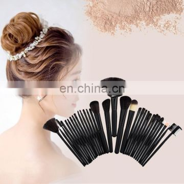 Factor Stock Makeup Brush, Cosmetic Brush,Powder Brush,Makeup Package 32pcs with light Wood handle, Soft Further