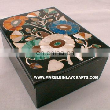 Black Marble Inlay Jewelry Box