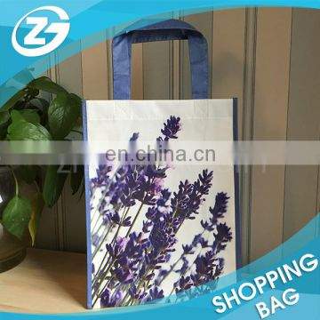 Custom Logo Printed Cheap 80gsm Promotional Colorful Handled Eco Friendly Lamination Non Woven Fabric Tote Bag