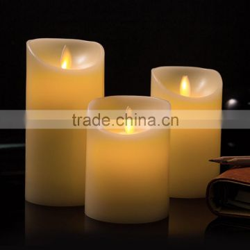 led moving wick wax candles led wax candle with dancing wick flameless flicking moving wick candle battery operated led candles