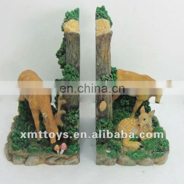 2012 fashion resin bookshelf with animal statue