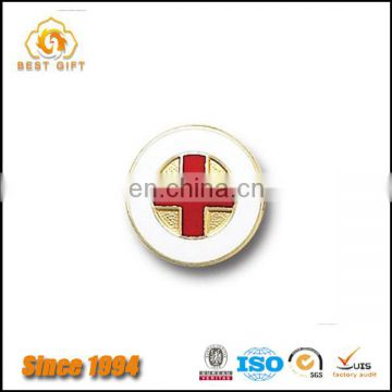 Professional Custom Hospital Doctor's Red Cross lapel pin badge