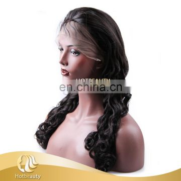 130% Density Full Lace Wig, Top Brazilian Human Hair Full Lace Wig