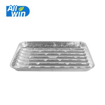 Disposable aluminum foil food roasting tray, bbq tray and grill pan