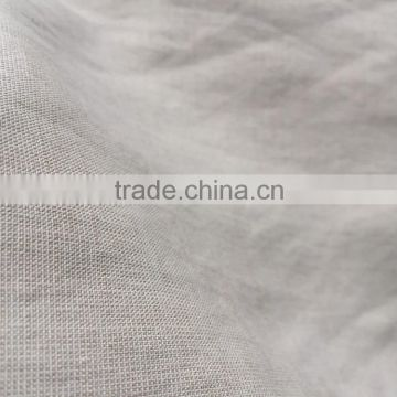 SPUN SILK LINEN BLEND PLAIN WEAVE FABRIC IN HEAVY STONEWASH QUALITY