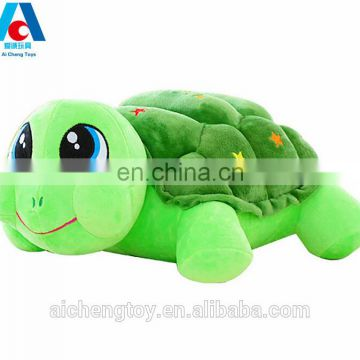 wholesale custom plush tortoise toy for sofa pillow and travel back cushion