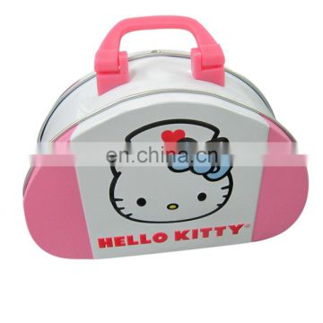 Customized shape lunch tin box for kids