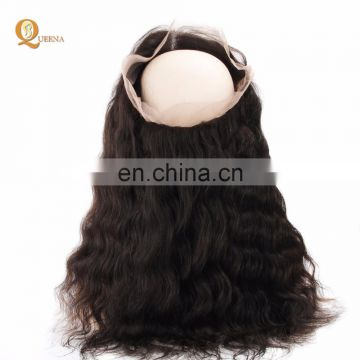 Grade 9A Virgin Hair Bundles With Frontal Full Lace Frontal Closures 360 Lace Closure