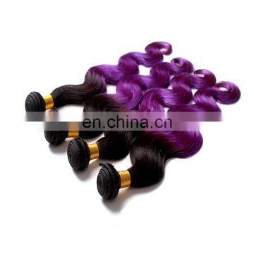 Super quality remy human hair extensions fashion two tone color wholesale price malaysian body wave human hair weave