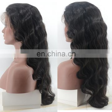 human hair full lace wig 26 inch virgin brazilian body wave hair lace front wig in stock