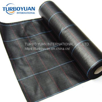black color 90gsm pp woven ground cover sheet for sale