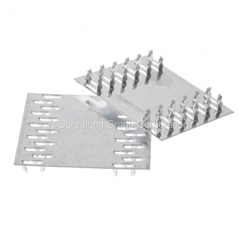 Galvanized steel building material wood connector custom mending roof truss nail plate