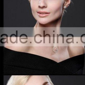Alibaba Website Charm High Quality Best Seller fashion jewelry 2016 ring diamond korea necklace N0018