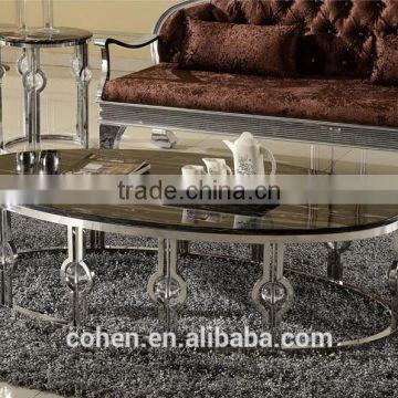 Royal Luxury Stainless Steel Hotel/living Room Furniture Marble Coffee Table  Center Table B818 ...