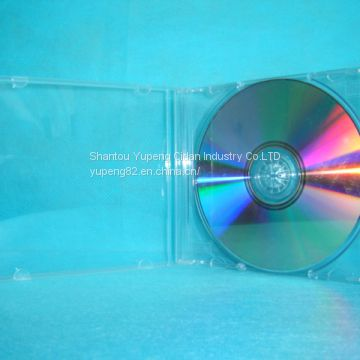10.4mm Plastic CD case Plastic CD box plastic cd cover Single square with Transparent Tray(YP-A101)