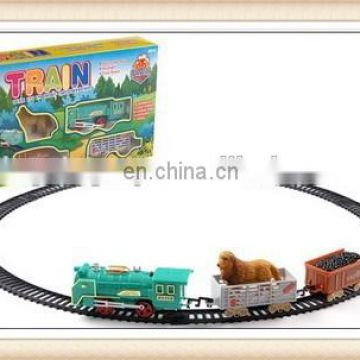plastic locomotive train railway set toy