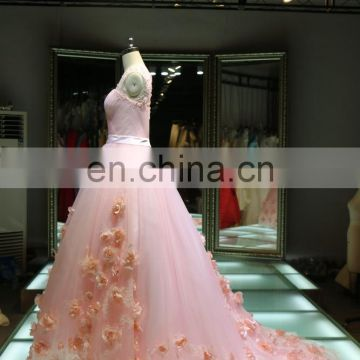 1A416 Wholesaler Fairy Flowers Chinese style Customize Beading Evening Dresses Alibaba