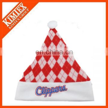 Wholesale cheap and hot selling fleece santa hat