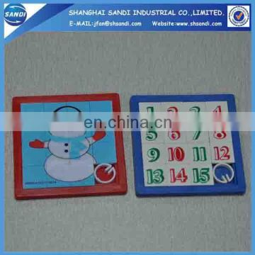 Cheap custom logo printed plastic sliding puzzle