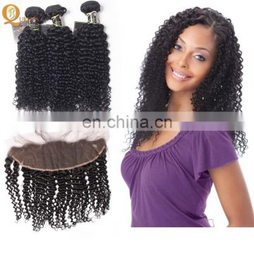 Queena 100% Human Hair Cheap Unprocessed Virgin Brazilian Body Wave Lace Frontals With Baby Hair
