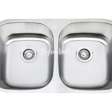cUPC 50/50 Double Bowl Undermount Stailess Steel Sink